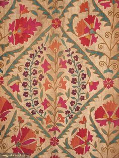 Augusta Auctions accepts consignments of historic clothing and textiles from museums, estates and individuals. Textile Pattern Design, Textile Patterns, Fabric Design, Print Patterns, Fabric Wallpaper, Pattern Wallpaper, Vintage Textiles, Vintage Prints, Textile Prints