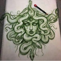 some people will get their Medusa tattoo to feel safer in their own skin Tigh Tattoo, Mädchen Tattoo, Hanya Tattoo, Sternum Tattoo, Tatoo Art, Piercing Tattoo, Piercings, Dope Tattoos, Body Art Tattoos