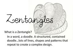 Good basic directions for Zentangles - nice to print out and post.