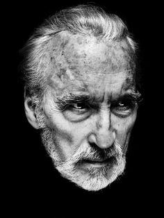 "Rest in Peace Christopher Lee ( May 27th 1922 – June 7th 2015) I was once asked what I thought was the most disquieting thing you could see on the screen and I said, ""An open door."""