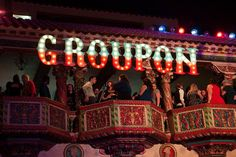 The Groupon holiday party, held at the Aragon Ballroom in December 2014, was inspired by the Midway at the World's Columbian Exposition fair, also known as the Chicago World's Fair.  Photo: Sheri Whitko