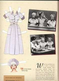 I LOVE LUCY {Lucille Ball} PAPER DOLLS