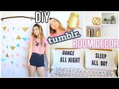 DIY Room Decor! Tumblr Inspired - YouTube