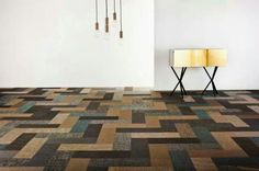 New take on wood parque...silence collection by Marie ekland for Bolon.