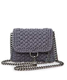 ONE & ONLY Grey Obsession Link Crochet Small Bag < ΤΣΑΝΤΕΣ ΩΜΟΥ