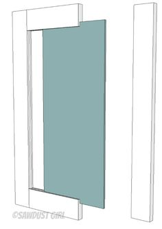How to build a cabinet door - free and easy plans from https://sawdustgirl.com.