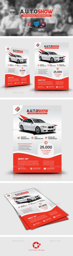 Auto Showroom Flyer Template PSD | Buy and Download: http://graphicriver.net/item/auto-showroom-flyer-templates/8884773?WT.ac=category_thumb&WT.z_author=grafilker02&ref=ksioks