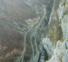 This is the road to Rugova canyon, Peje, Kosove.  Approx.1.500m high
