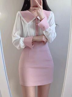 Kpop Fashion Outfits, Ulzzang Fashion, Harajuku Fashion, Girly Outfits, Korean Outfits, Kawaii Fashion, Pretty Outfits, Girl Fashion, Fashion Dresses