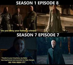 Parallels, Game of Thrones.