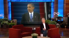 Pres. Obama's Birthday Message to Ellen...only Ellen can turn the inaugural address into a birthday message to her....lol