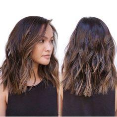 Image result for shoulder length dark hair women wavy straight