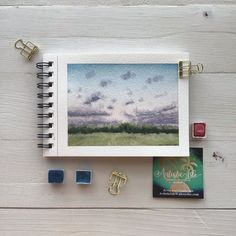 "Katherine Urban on Instagram: ""A quick, little painting for a color study. Loving this little @winsorandnewton watercolor sketchbook. ——————————————————————— Artistic…"" Watercolor Sky, Watercolor Sketchbook, Watercolour Painting, Colorful Drawings, Art Drawings, Brush Pen Art, Mini Canvas Art, Aesthetic Painting, Art Projects"