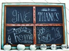 DIY Thanksgiving Day Blessings Chalk Board Luxe for Less PB Knock Off {Tutorial}