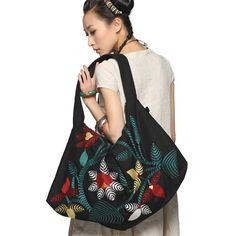 #Swanmarks Liebo New 2012 Big Embroidery Shoulder Bag