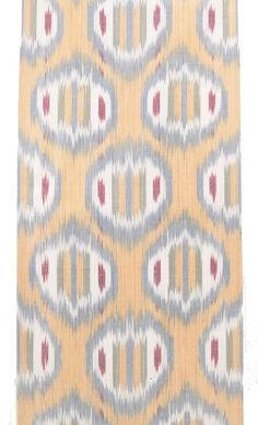 """Ikat is a Malay-Indonesian term for cloth which is patterned by first tying the warp threads in a specific design and then dyeing them before weaving. In Uzbek, its name abrband means """"to tie a cloud""""."""