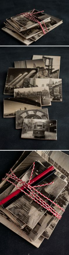 Wooden Postcards with Image Transfer