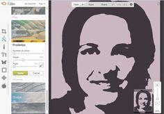 Absztrakt digitális akvarell portré | 7szindizajn.hu
