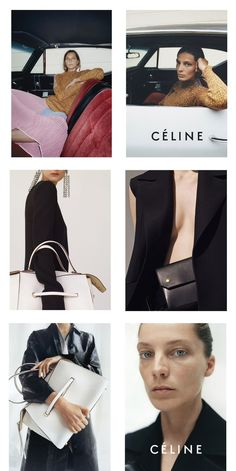 celine campaign old celine - campaign Vogue Fashion, Look Fashion, High Fashion, Womens Fashion, Fashion Design, Juergen Teller, Celine Campaign, Editorial Photography, Fashion Photography