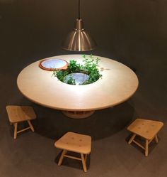 This Table Multi-Functions As Indoor Herb Garden, Cooler, and Storage for Veggies
