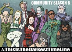 #Community vs. Batman:  This Is The Darkest Time Line (Abed Is Joker Now)