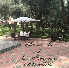 Afternoon tea? Mamounia Hotel in Marrakech; one of Morocco's most luxurious hotels