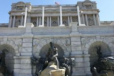 Library of Congress, Front with Poseidon's Fountain