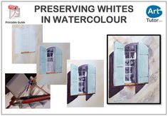 Learn how to keep your white paper white in this step-by-step watercolour guide by Karl Fletcher.