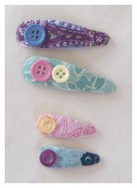 Fabric hair clips
