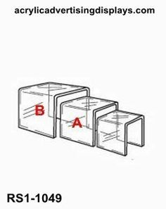Clear acrylic riser set of 3 RS1