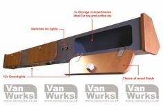 Lighting Shelf/Storage Unit for T2 Bay window