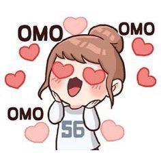 line sticker kpop Anime Korea, Korean Anime, Cute Love Pictures, Cute Love Memes, Pop Stickers, Kawaii Stickers, Anime Meme Face, Korean Expressions, Korean Stickers