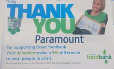 Our Brend Foodbank 'thank you' certificate taking pride of place on our whiteboard :) #charity #foodbank #brentfoodbank #donations #paramountcollective #trusselltrust #paramountproperties #thankyou #helpinghand