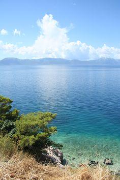 A pretty sea view South of Dubrovnik