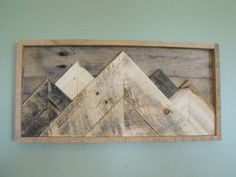 Mountainscape Mountains reclaimed pallet wood wooden von HewnWoods