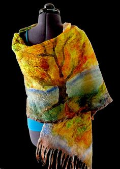 nuno felting and hand painting- what a combination!!