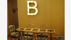 letter in dining table
