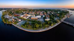 Aerial photo of Pärnu city in Estonia