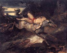 Mazeppa by Horace Vernet - Canvas Art Print Canvas Art For Sale, Canvas Art Prints, A4 Poster, Poster Prints, English Romantic, Equine Art, Vintage Artwork, Heart Art, Famous Artists