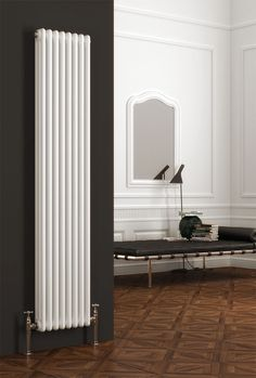 Belfry Heating Create your unique look with the 3 Column Vertical Designer Radiator. Choosing the perfect radiator for you could not be easier. Each radiator is supplied with wall mounting brackets, air vent and blanking plug. Size: H x W x D Furniture, Interior, Home, Column Design, New Homes, Vertical, Vertical Radiators, Bathroom Design