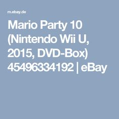 Mario Party 10 (Nintendo Wii U, 2015, DVD-Box) 45496334192 | eBay