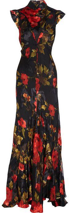 Buy Duro Olowu Printed devoré silk-satin gown at NET-A-PORTER.COM