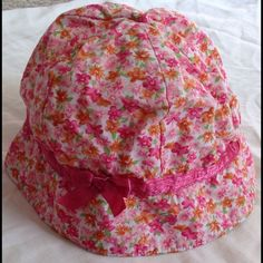 Infant Pink Floral Hat Infant Pink Floral Hat. 0-3 months. This is so CUTE!! Has a satin ribbon trim. Accessories Hats