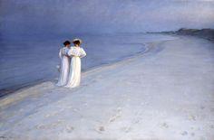 Plakat<br>P.S. Krøyer<br>Sommeraften på Skagen Sønderstrand : vis
