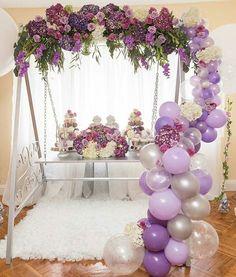 Guirnaldas con globos parar 15 años | Tendencia 2018 | +50 propuestas para decorar