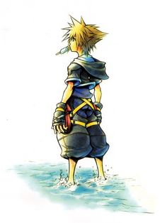 View an image titled 'Sora Art' in our Kingdom Hearts II art gallery featuring official character designs, concept art, and promo pictures. Kingdom Hearts Hd, Kingdom Hearts Tattoo, Kingdom Hearts Wallpaper, Cry Anime, Anime Manga, Disneysea Tokyo, Character Art, Character Design, Kh 3