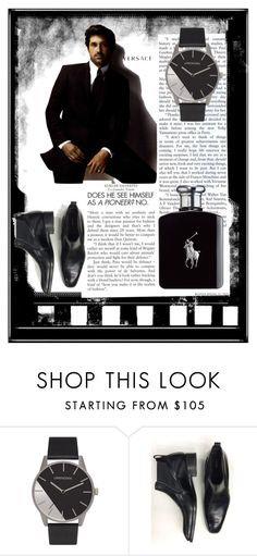 """""""Strong Man"""" by a-camdzic ❤ liked on Polyvore featuring Versace, Tom Ford, Ralph Lauren, men's fashion and menswear"""
