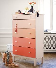 DIY Kids Ombre Dresser
