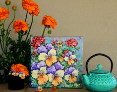 Colourful happiness - flowers make me smile! Pansies, Make Me Smile, Art Drawings, Happiness, Happy, Flowers, How To Make, Painting, Color