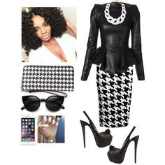 Pre-Stellars Awards!!!! by cogic-fashion on Polyvore featuring polyvore, fashion, style, Plein Sud, Boohoo, Christian Louboutin, MICHAEL Michael Kors and Kenneth Jay Lane